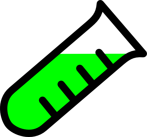 Testing graded test tube clip art at vector clip art