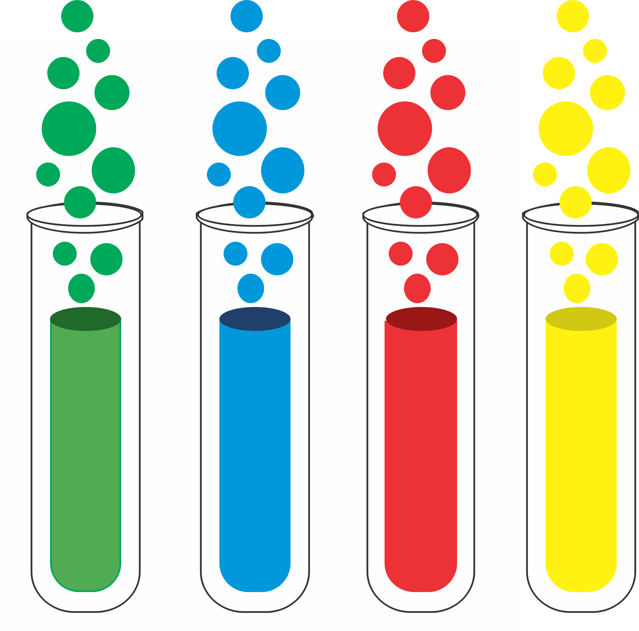 Testing test tube clipart