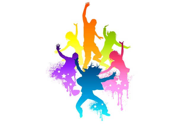 Zumba dancer clipart dance fitness pencil and in color dancer